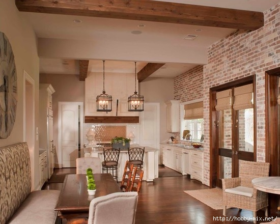 Gorgeous-Kitchen-Design-Exposed-Brick-Wall-Classic-Family-Home (550x440, 144Kb)