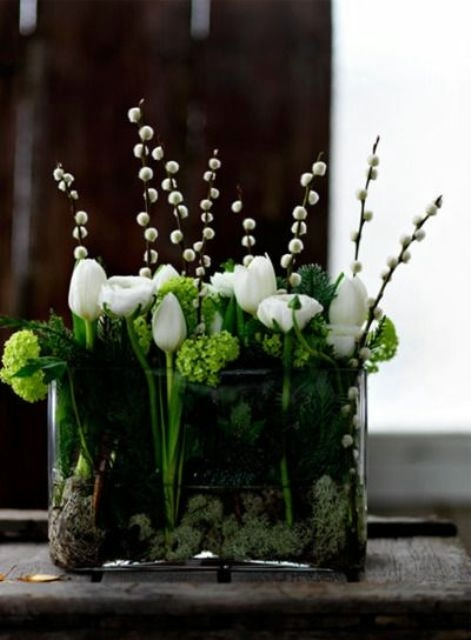 Living room flower arrangements