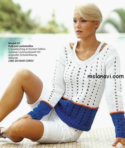 Летний-пуловер-в-сине-белых-тонах (400x473, 74Kb)