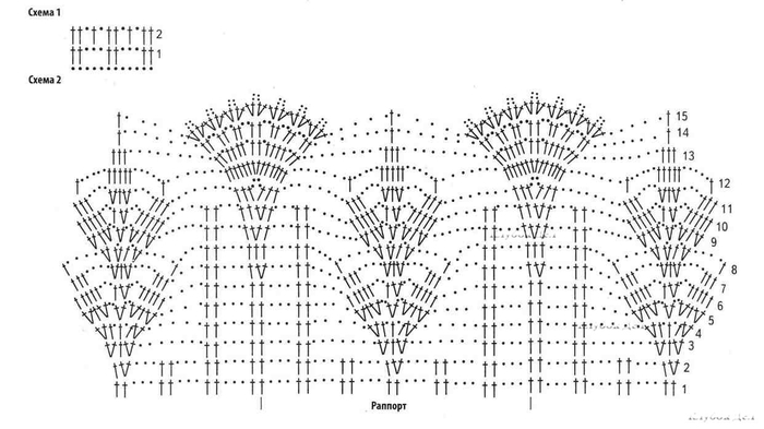 Схемы по вязанию ажурная кайма 22