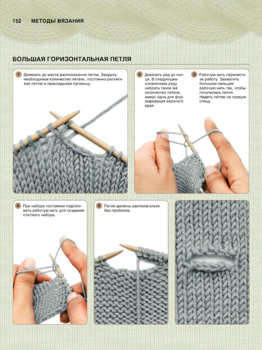 Горизонтальные петли вязание