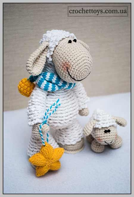 Вязаная овечка - символ 2015