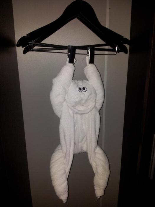 Обезьяна из полотенца своими руками