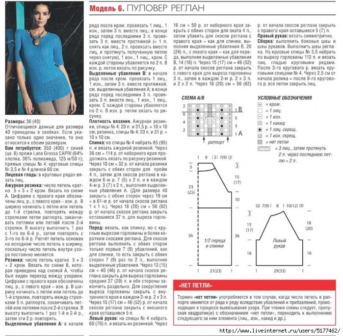 Расчёт петель для вязания регланом фото
