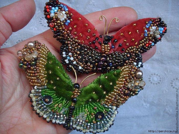 Схемы для вышивки бабочек
