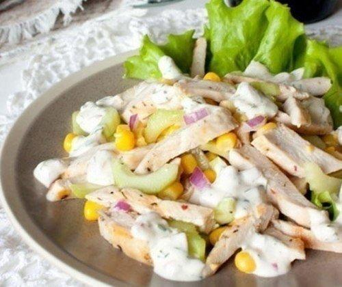 Салат из курицы с огурцом и кукурузой (500x420, 45Kb)