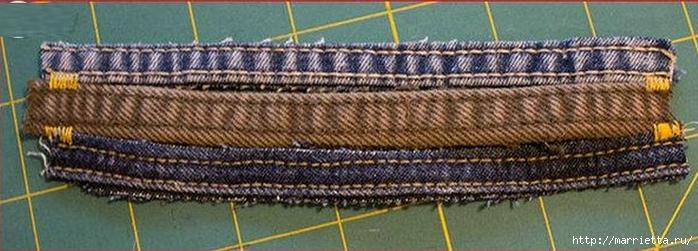 Браслет из джинсовых кромок (5) (700x251, 178Kb)