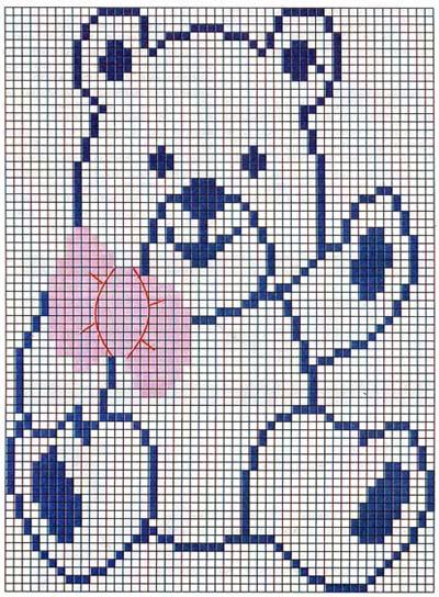 Медведь схема для вязания 789