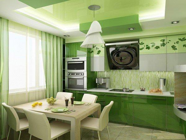 Мебель для кухни в зеленых тонах – природное тепло в любом пространстве (13) (600x450, 197Kb)