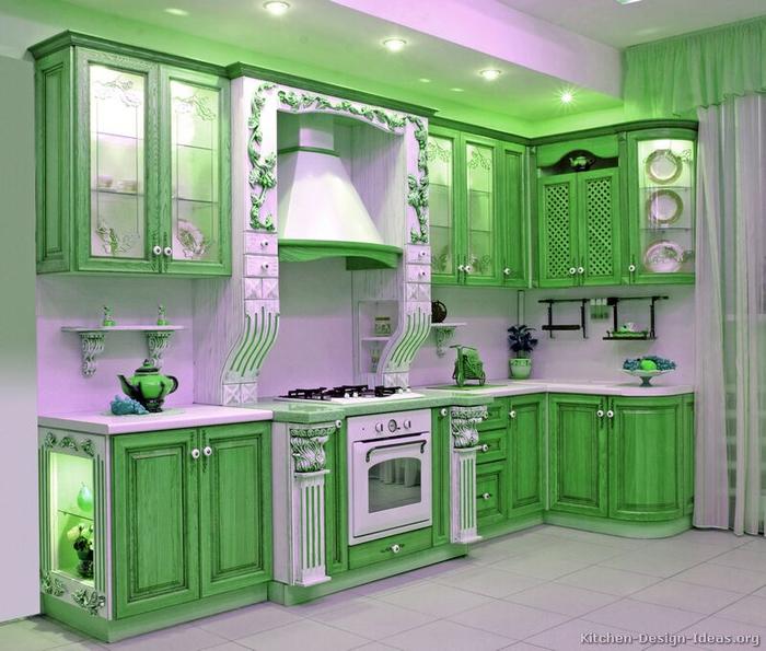 Мебель для кухни в зеленых тонах – природное тепло в любом пространстве (14) (700x595, 413Kb)