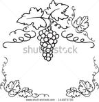 Превью stock-vector-decorative-grapes-vine-vector-ornament-frame-144975730 (450x467, 96Kb)