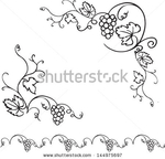 Превью stock-vector-decorative-grapes-vine-vector-ornament-frame-144975697 (450x432, 88Kb)