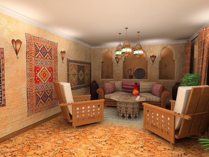 марокканский стиль в интерьере фото 15 (700x525, 536Kb)
