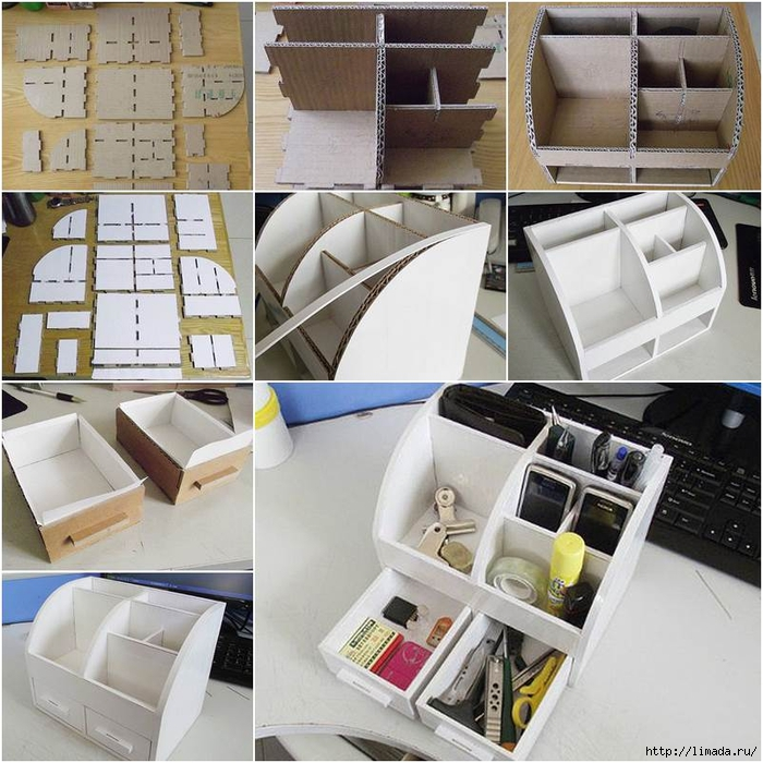 How-to-DIY-Cardboard-Desktop-Organizer-with-Drawers (700x700, 354Kb)