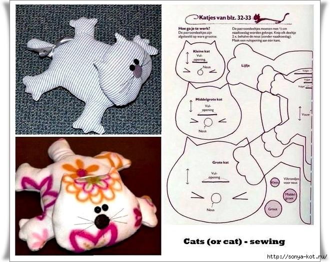 Как сшить кота мк