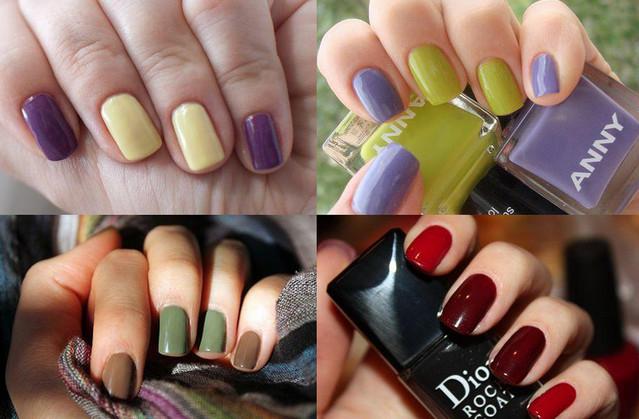 Сочетание цвета лака для ногтей: основные способы сочетания