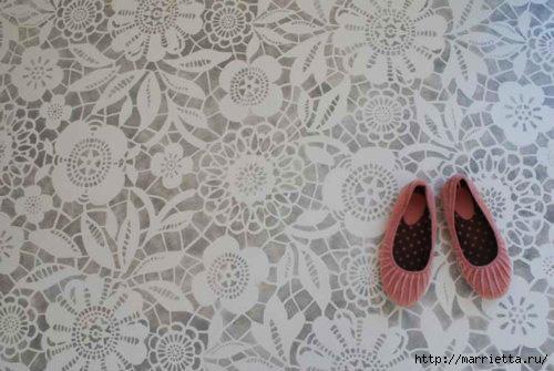 Ручная роспись деревянного пола. Идеи (33) (500x335, 99Kb)