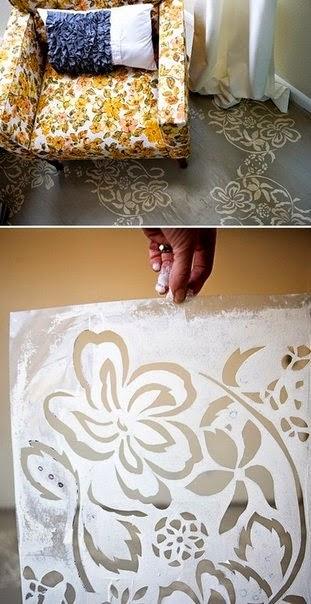 Ручная роспись деревянного пола. Идеи (37) (311x604, 195Kb)