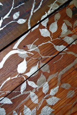 Декор деревянного пола своими руками