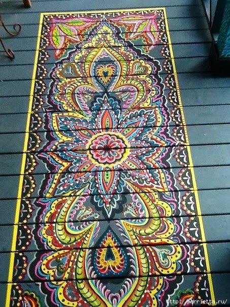 Ручная роспись деревянного пола. Идеи (41) (453x604, 288Kb)