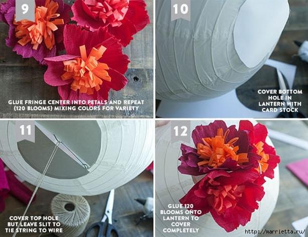 Цветочный шар из бумаги для свадебного торжества (4) (614x472, 197Kb)