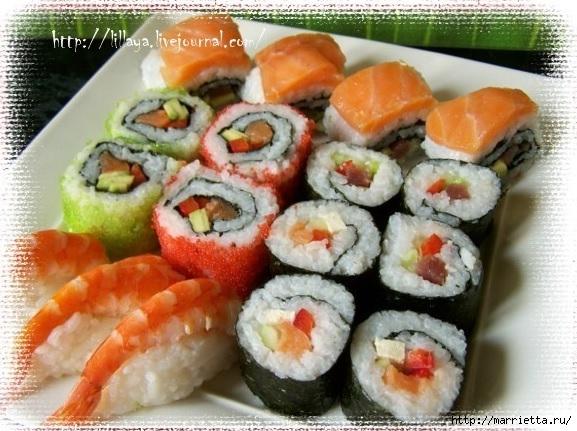как приготовить суши и роллы (577x431, 193Kb)