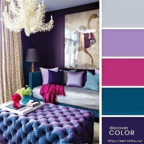 Цветовая гамма - таблицы сочетания цветов в интерьере (4) (500x500, 141Kb)