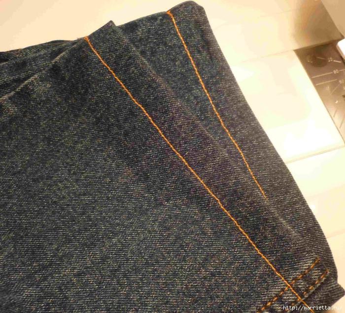 Подшиваем джинсы с сохранением потертого края (2) (700x635, 419Kb)