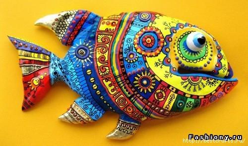 Рыбки из полимерной глины своими руками (10) (500x294, 140Kb)