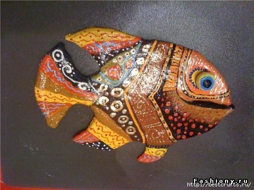 Рыбки из полимерной глины своими руками (12) (500x375, 145Kb)