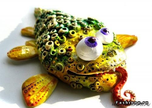 Рыбки из полимерной глины своими руками (17) (500x355, 118Kb)