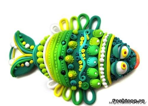 Рыбки из полимерной глины своими руками (19) (500x360, 95Kb)