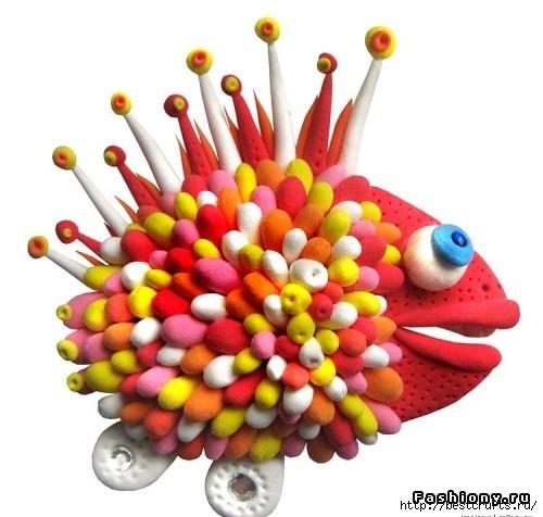 Рыбки из полимерной глины своими руками (21) (500x476, 122Kb)