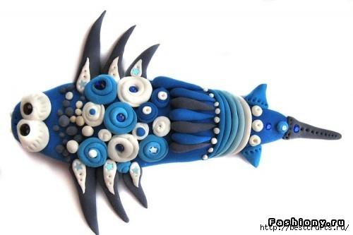Рыбки из полимерной глины своими руками (22) (500x333, 69Kb)