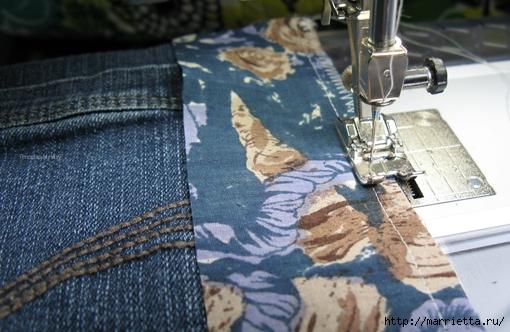 Подушка из джинсов для садовой скамейки (1) (510x332, 166Kb)