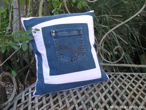 Подушка из джинсов для садовой скамейки (5) (510x383, 213Kb)