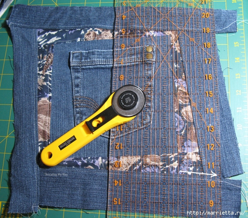 Подушка из джинсов для садовой скамейки (8) (510x447, 286Kb)