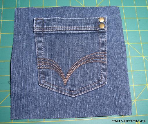 Подушка из джинсов для садовой скамейки (12) (510x426, 251Kb)