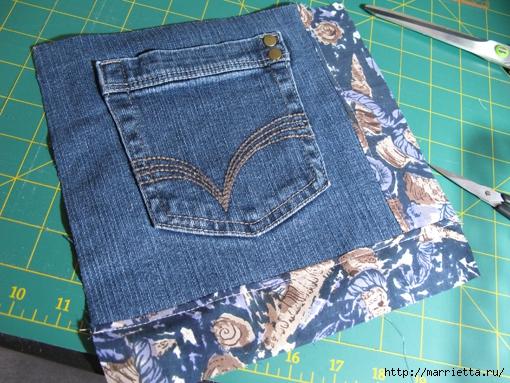 Подушка из джинсов для садовой скамейки (14) (510x383, 226Kb)