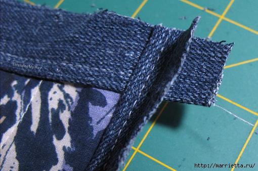 Подушка из джинсов для садовой скамейки (16) (510x338, 173Kb)