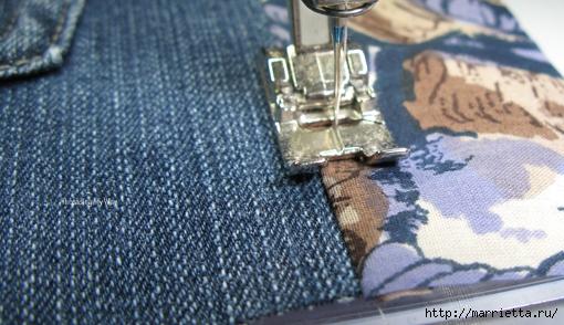 Подушка из джинсов для садовой скамейки (18) (510x294, 164Kb)