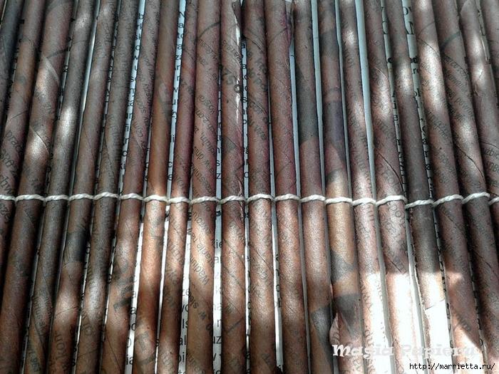 ЖАЛЮЗИ своими руками из газетных трубочек (4) (700x525, 354Kb)
