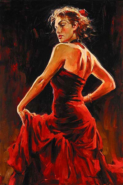 модели детского картина танцовщица в красном мало