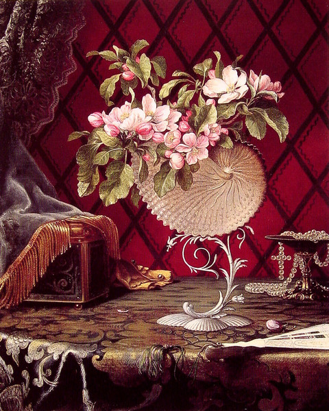 Still Life with Apple Blossoms in a Nautilus Shell (1870) (480x600, 402Kb)
