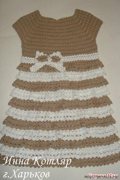 Платье с рюшами для девочки
