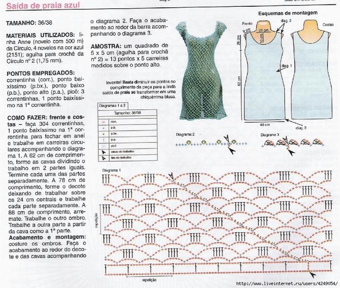 Схемы вязания пляжных туник пляжные туники