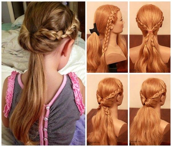 Легкие прически на каждый день для девочек на средние волосы пошагово