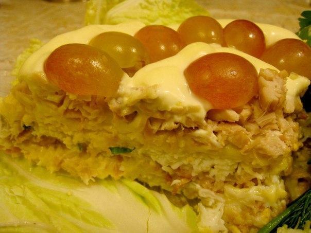 Куриный салат с виноградом (604x453, 52Kb)