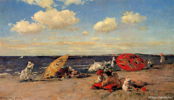 2835299_pervayaChase_William_Merritt_At_the_Seaside (700x402, 139Kb)