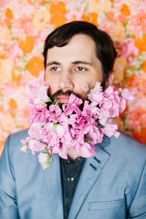 цветы в бороде фото 2 (466x700, 354Kb)